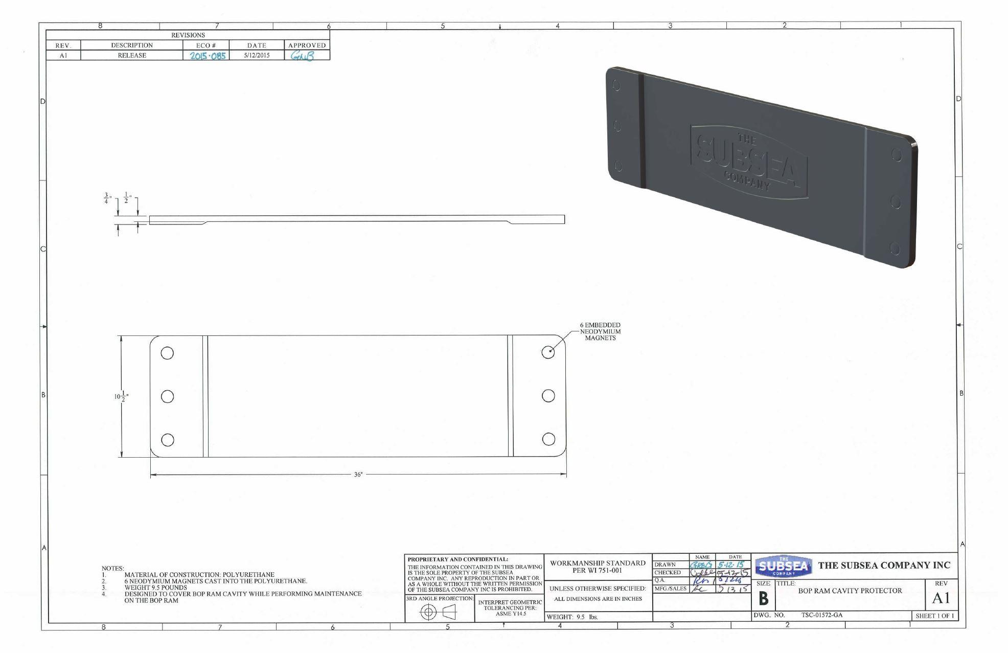 BOP RAM Cavity Protector